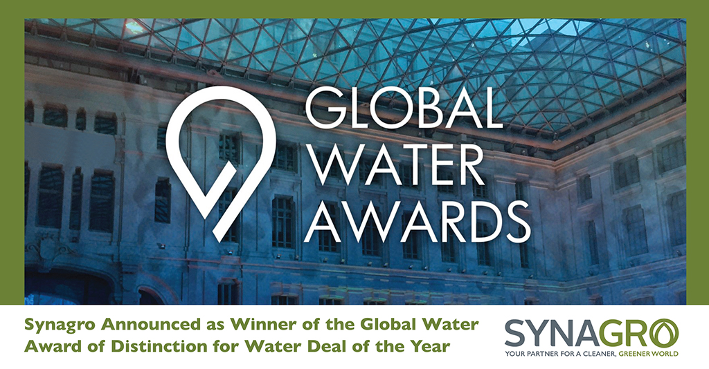 Synagro Announced as Winner of the Global Water Award of Distinction for Water Deal of the Year