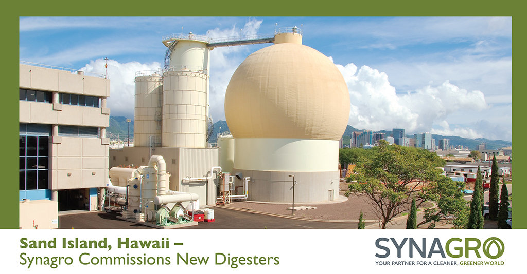 Synagro Commissions New Digesters on Sand Island With Ribbon-Cutting Ceremony