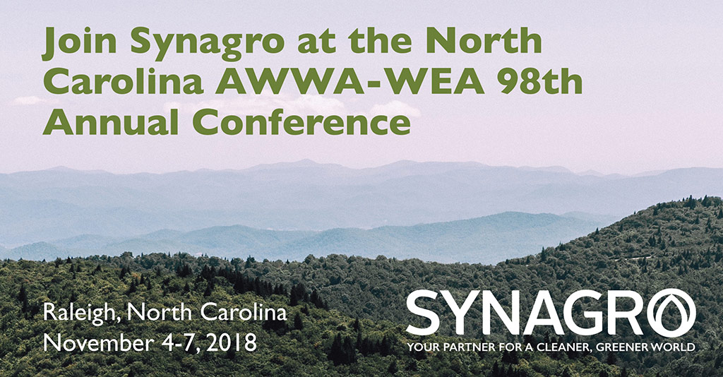 Synagro to Highlight Services at North Carolina AWWA/WEA 98th Annual Conference
