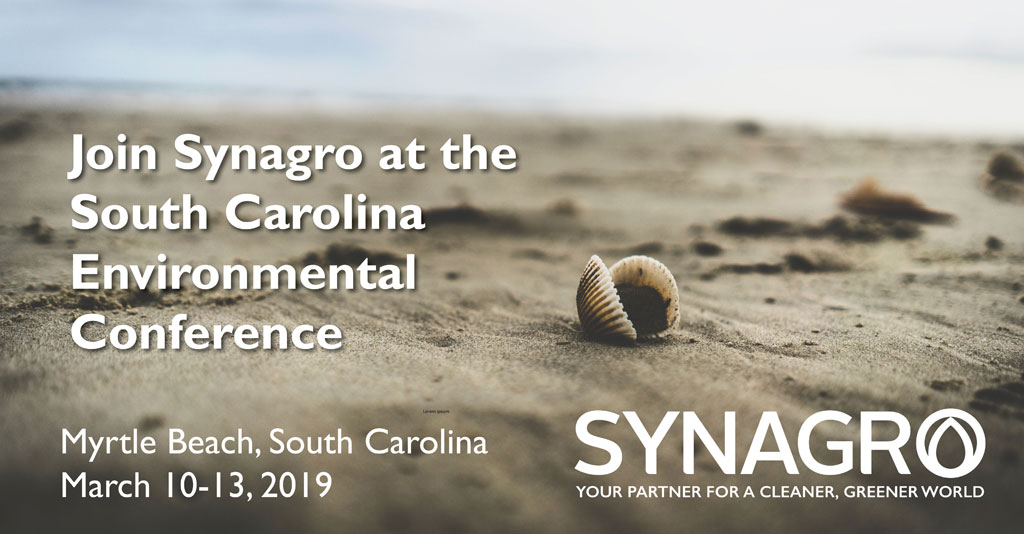 Synagro to Highlight Services at 2019 South Carolina Environmental Conference