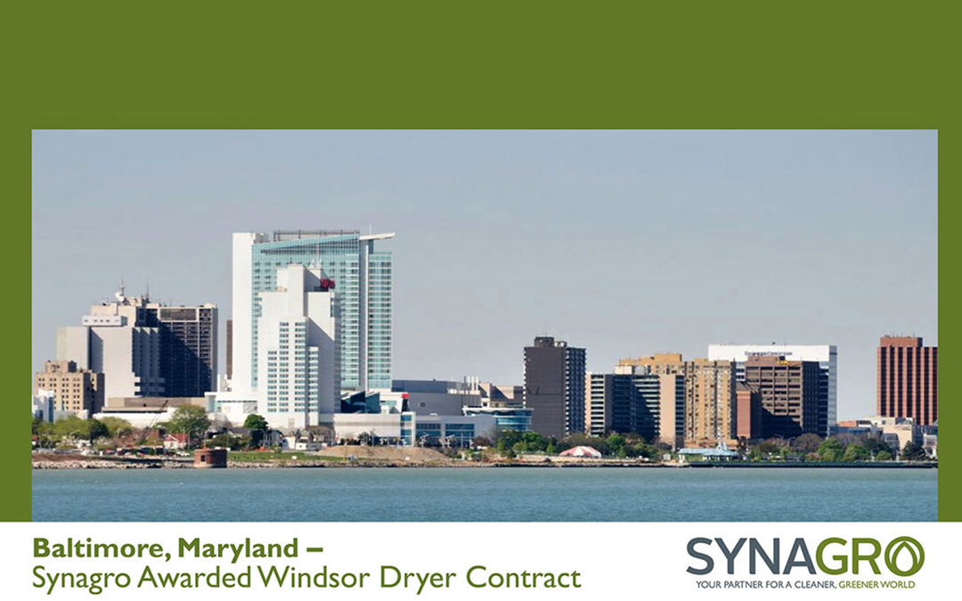 Synagro Awarded Contract to Operate City of Windsor, Ontario's Dryer
