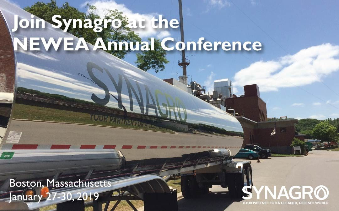 Synagro to Highlight Services at 2019 New England Water Environment Association Annual Conference