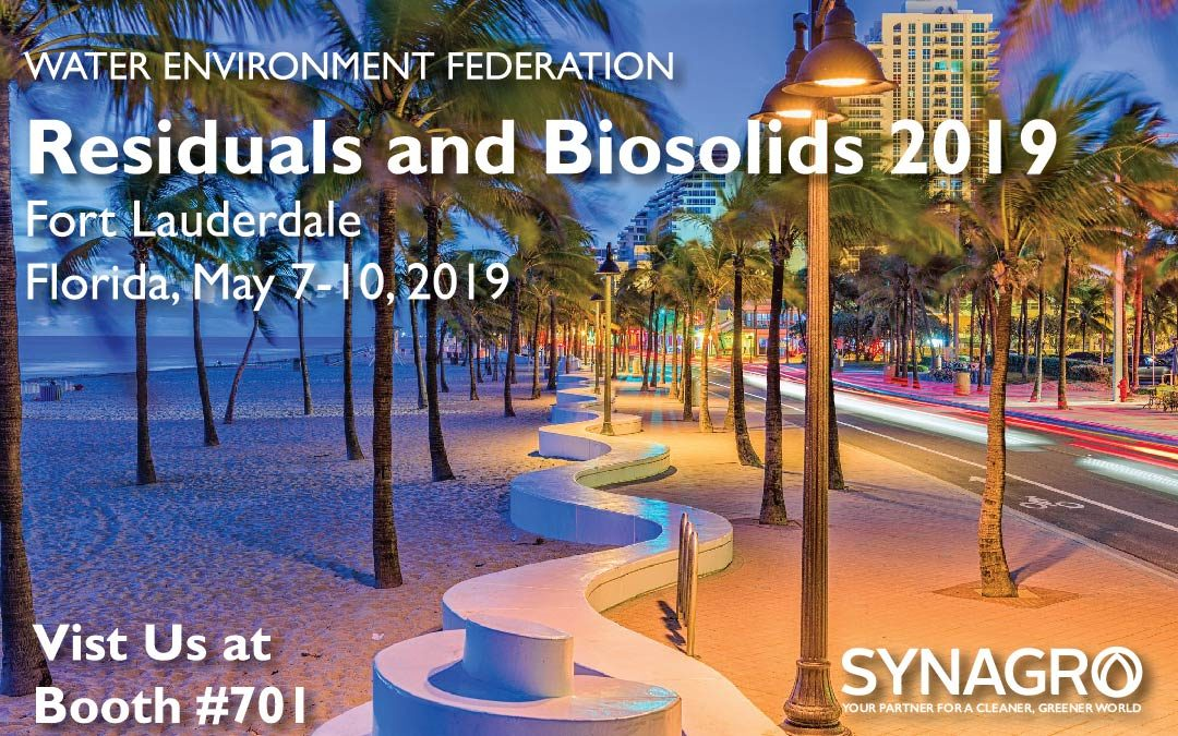 Synagro to Highlight Services at Residuals and Biosolids 2019 Conference