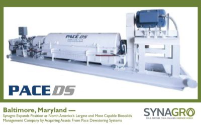 Synagro Acquires Assets From Pace Dewatering Systems