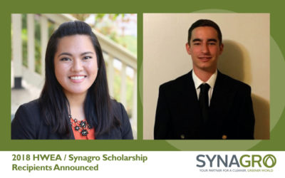 2018 HWEA/Synagro Scholarship Recipients Announced