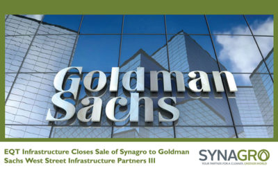 EQT Infrastructure Closes Sale of Synagro to Goldman Sachs West Street Infrastructure Partners III