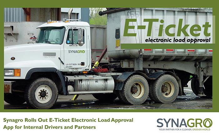Synagro Rolls Out E-Ticket Electronic Load Approval App for Internal Drivers and Partners