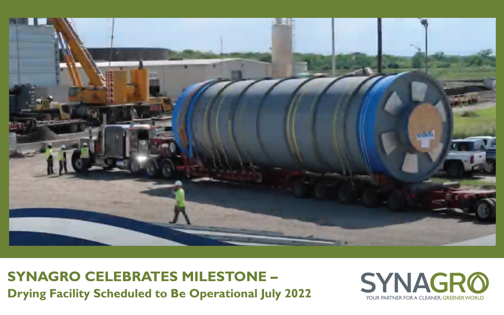 Synagro Celebrates Milestone in Fort Worth Design-Build-and-Operate Drum Drying Facility Project