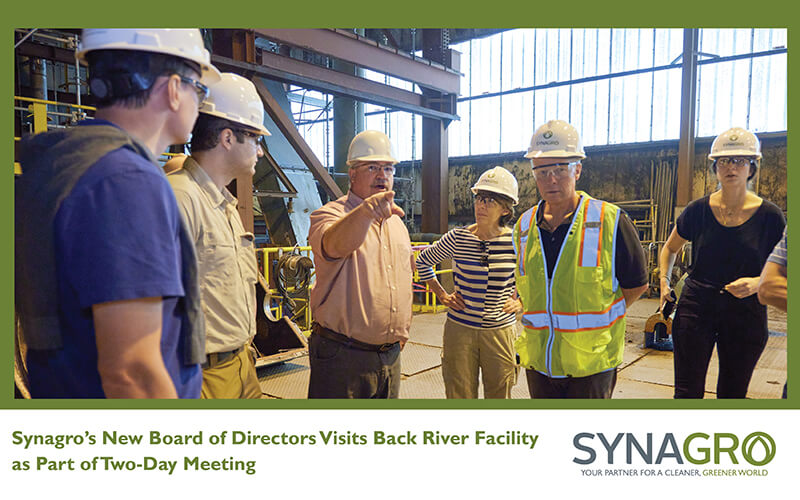 Synagro's New Board of Directors Visits Back River Facility as Part of Two-Day Meeting